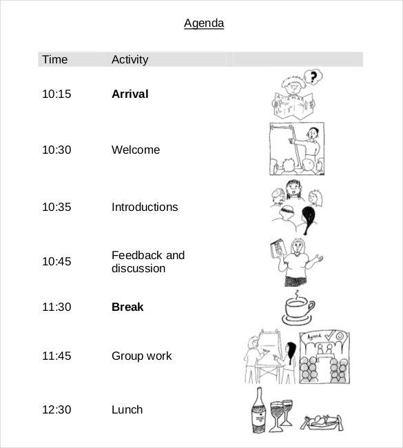 19+ Simple Agenda Templates - PDF, DOC Free  Premium Templates - simple agenda samples