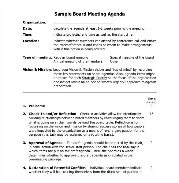 Simple Agenda Template - 19+ Examples in PDF , Word Free  Premium