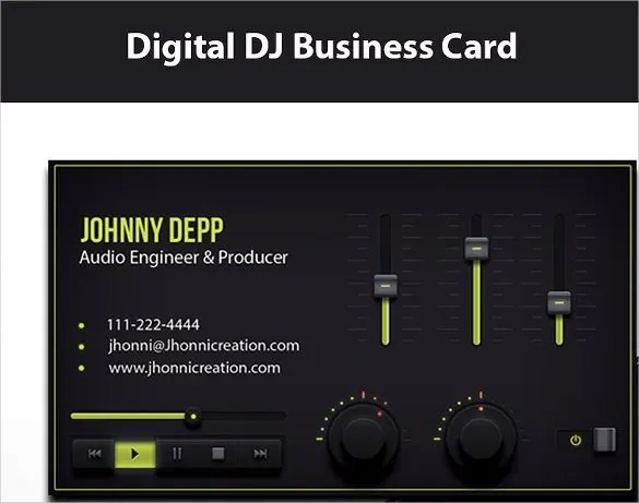 25+ DJ Business Cards Free Download Free  Premium Templates