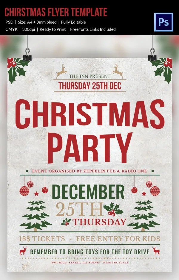 30+ Christmas Flyer Templates - PSD, Vector Format Download Free - christmas luncheon flyer