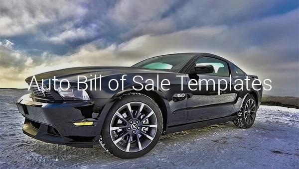 8+ Auto Bill of Sale - DOC, PDF Free  Premium Templates