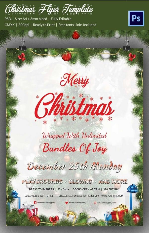 78+ Christmas Flyer Templates - PSD, AI, Illustrator, Word Free