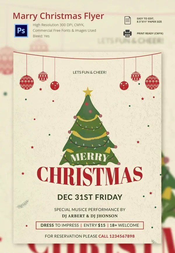 30+ Christmas Flyer Templates - PSD, Vector Format Download Free - free templates christmas invitations