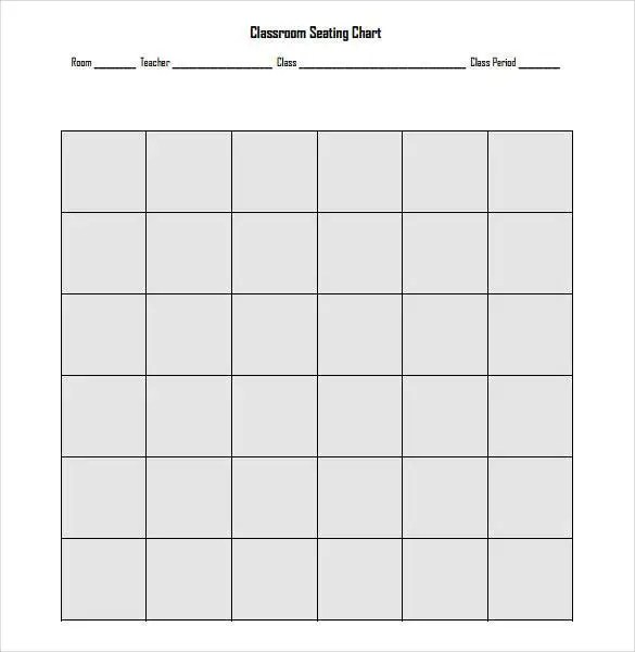 Classroom Seating Chart Template - 22+ Examples in PDF, Word, Excel