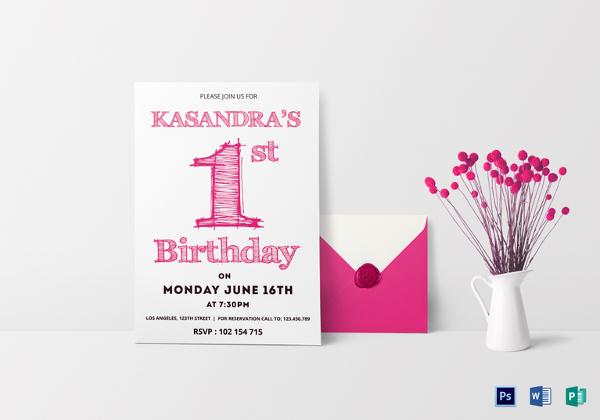 Birthday Invitation Template - 44+ Free Word, PDF, PSD, AI, Format