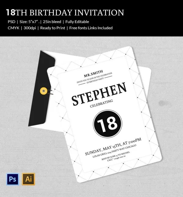 80Th Birthday Invitation Templates u2013 gangcraftnet - free 18th birthday invitation templates