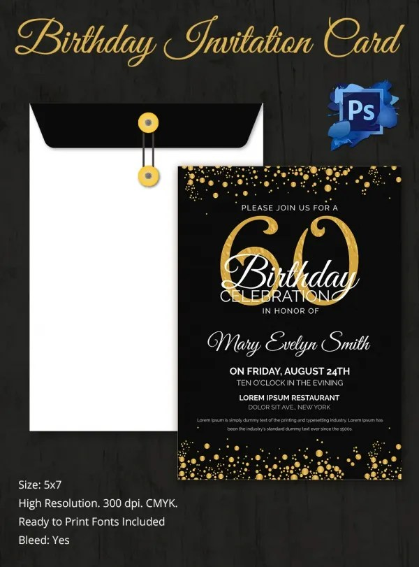 Download Free Template For 40Th Birthday Invitation