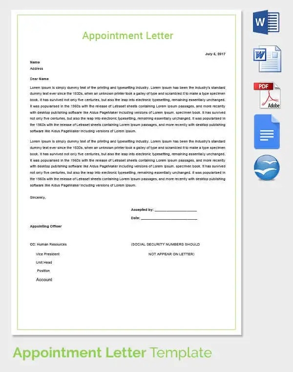 Appointment Letters In Doc Fake Lg Electronics Pvt Ltd India - letter in doc