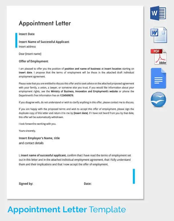 Copy Of An Application Letter