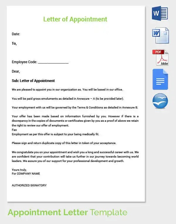 employment offer letter templates - Onwebioinnovate