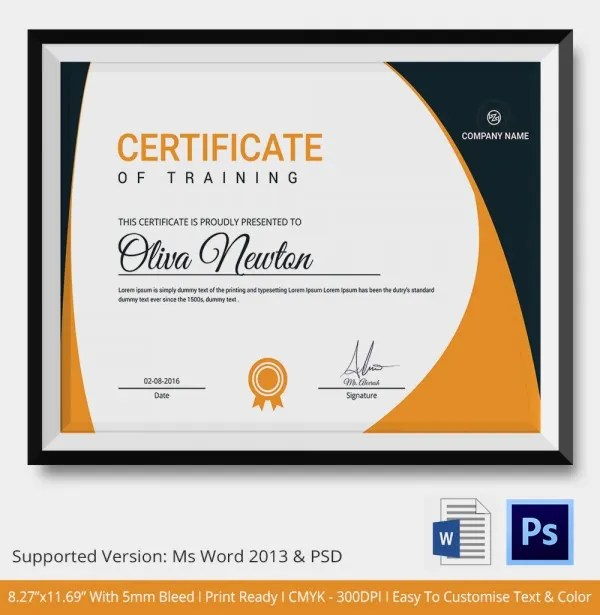 Training certificate format free download - training certificate - computer certificate format