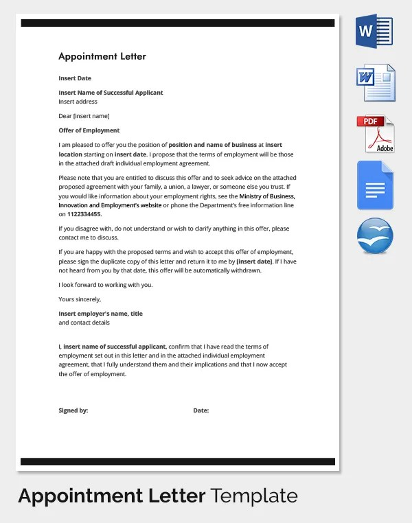 Sample Thank You Letter To Boss 22 Free Documents Sample Confirmation Letter For Employee In Malaysia