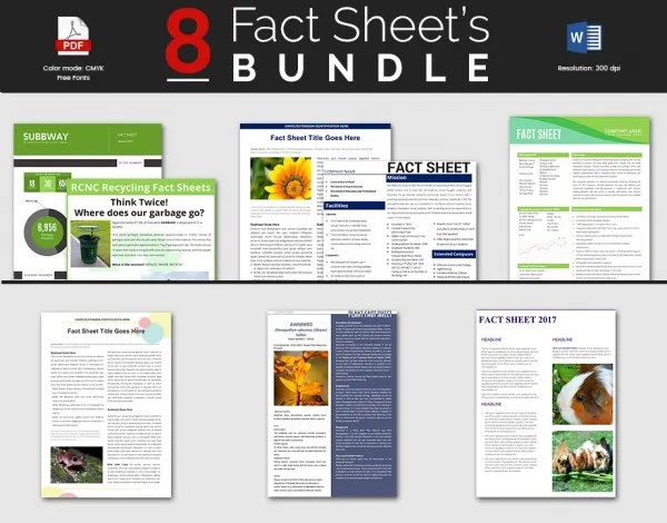 fact sheet design template - Onwebioinnovate