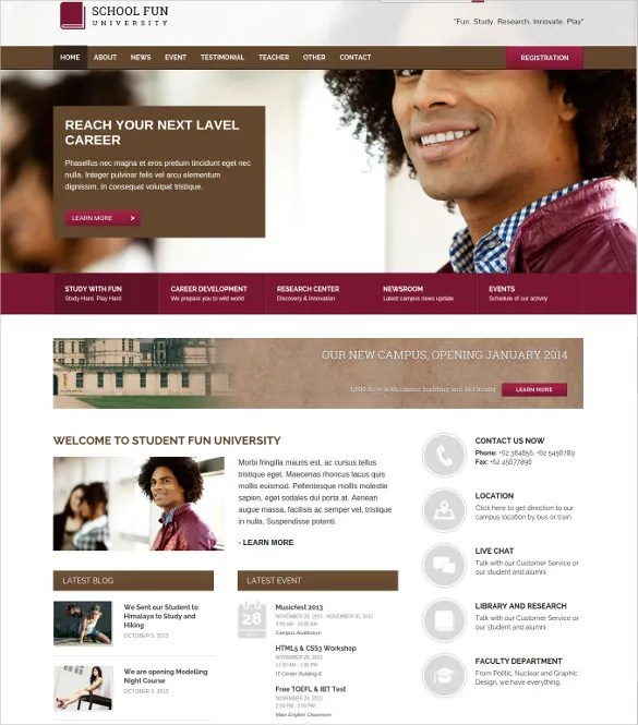 33+ School Website Themes  Templates Free  Premium Templates
