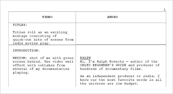 Audio  Video StoryBoard Template \u2013 9+ Free Sample, Example, Format - sample video storyboard template