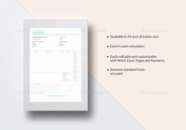 Repair Invoice Template - 7+ Free Word, Excel, PDF Documents - auto repair invoice templates