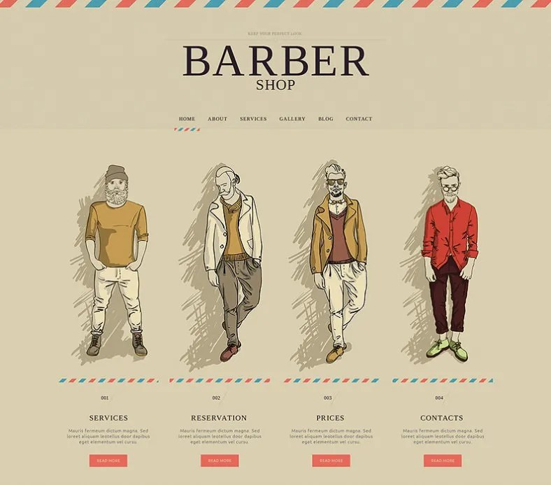 Barber Shop Website Templates  Themes Free  Premium Free