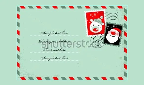 Envelope Template \u2013 68+ Free Printable PSD, PDF, EPS, Word, Excel - Santa Envelopes