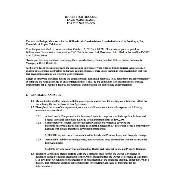 Bid Proposal Templates - 15+ Free Sample, Example, Format Download - bid proposal templates