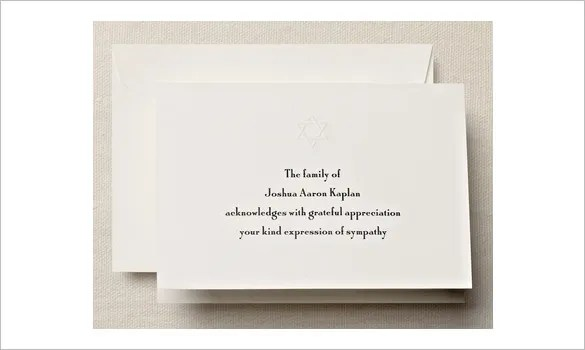 26+ Funeral Thank You Cards - PSD, AI, EPS Free  Premium Templates