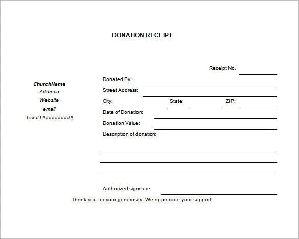 26+ Blank Receipt Templates - DOC, Excel, PDF, Vector EPS Free - blank reciept