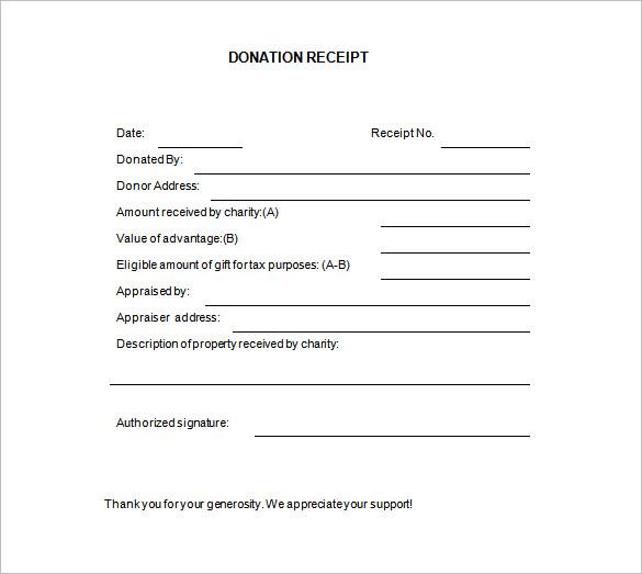 Blank Receipt Template u2013 20+ Free Word, Excel, PDF, Vector EPS - blank receipt template microsoft word