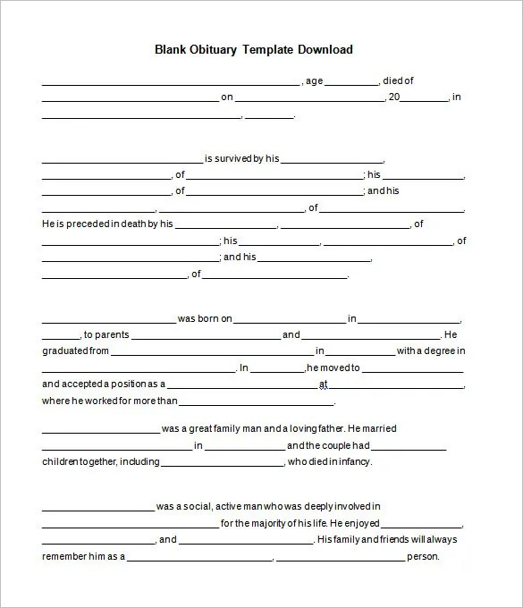 51+ Obituary Templates - DOC, PDF, PSD Free  Premium Templates - free obituary template