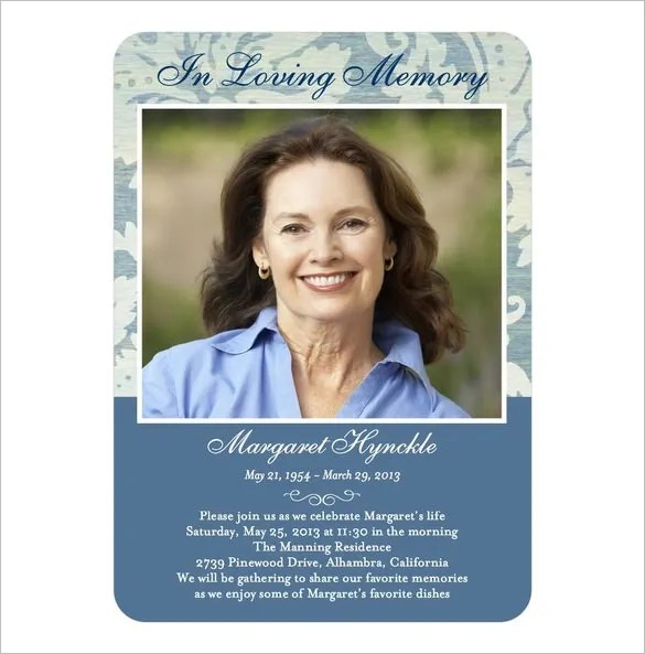 16+ Obituary Card Templates - Free Printable Word, Excel, PDF, PSD
