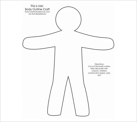18+ Body Outline Templates - PDF, DOC Free  Premium Templates