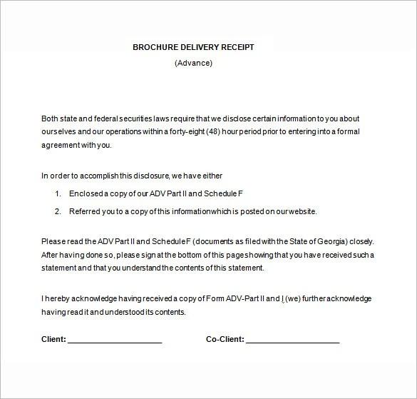 15+ Delivery Receipt Template - PDF, DOC Free  Premium Templates - Delivery Receipt Form