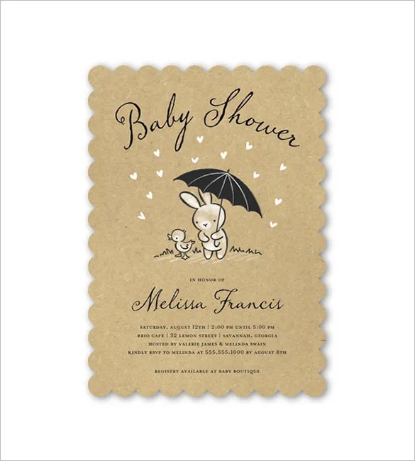 32+ Baby Shower Card Designs  Templates - Word, PDF, PSD, EPS