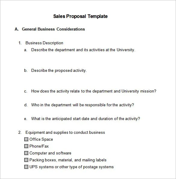 Sales Proposal Templates - 15+ Free Sample, Example, Format Download - proposal format template