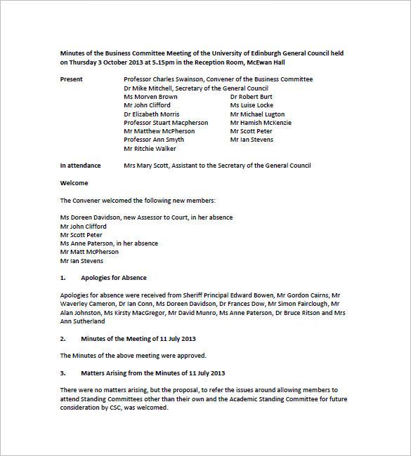 sle business meeting agenda format - 28 images - committee meeting