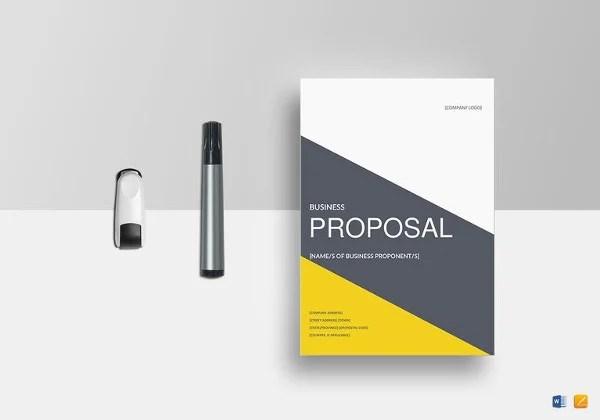 Proposal Templates \u2013 140+ Free Word, PDF, Format Download! Free - business proposal template download