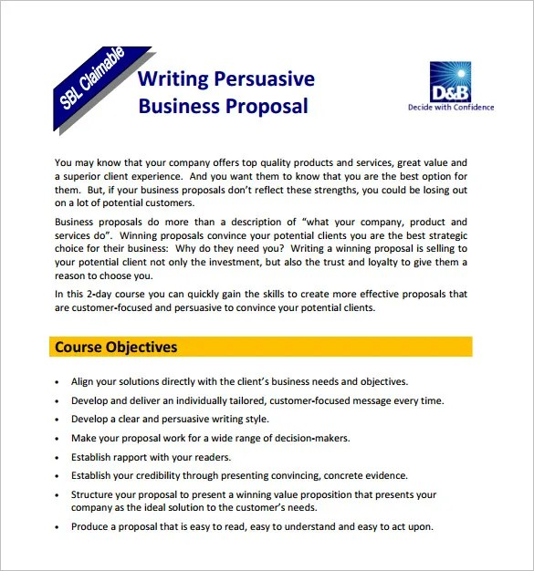 15+ Writing Proposal Templates - Free Sample, Example, Format - Free Sample Business Proposals