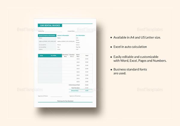 Auto Repair Invoice Templates - 12+ Free Word, Excel, PDF Format