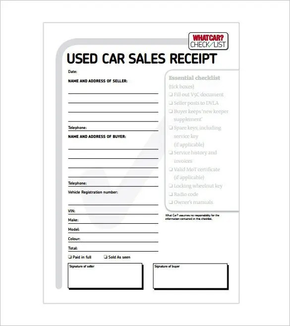 Receipt Template - 122+ Free Printable Word, Excel, PDF Format - paid in full receipt template