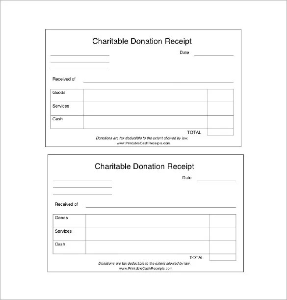 Donation Receipt Template - 12+ Free Word, Excel, PDF Format - free receipt book