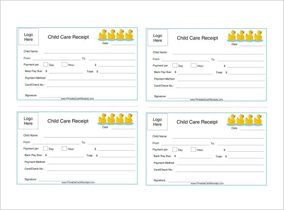 Daycare Receipt Template - 24+ Free Word, Excel, PDF Format Download - make receipts free