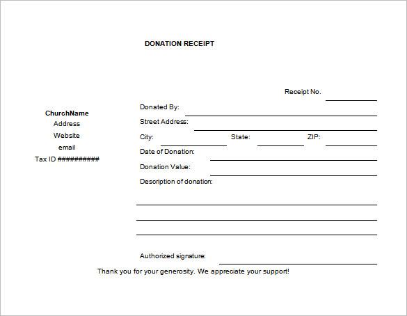 18+ Donation Receipt Templates - DOC, PDF Free  Premium Templates