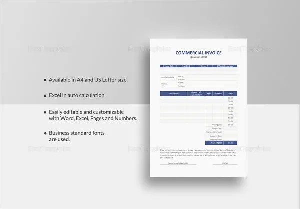 Retail Invoice Template - 12+ Free Word, Excel, PDF Format - pages invoice template