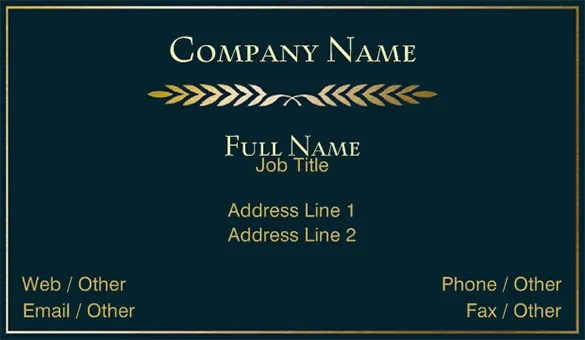 Visiting Card Template \u2013 21+ Free Sample, Example Format Download - name card format