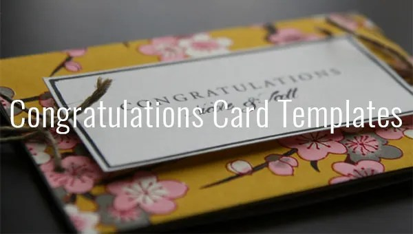 Congratulations Card Template - 20+ Free Sample, Example Format