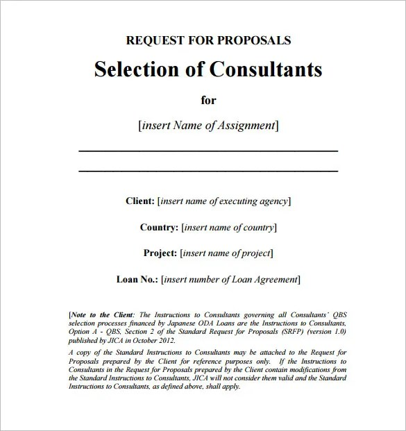 Consulting Proposal Template - 16+ Free Sample, Example, Format - proposal sample format