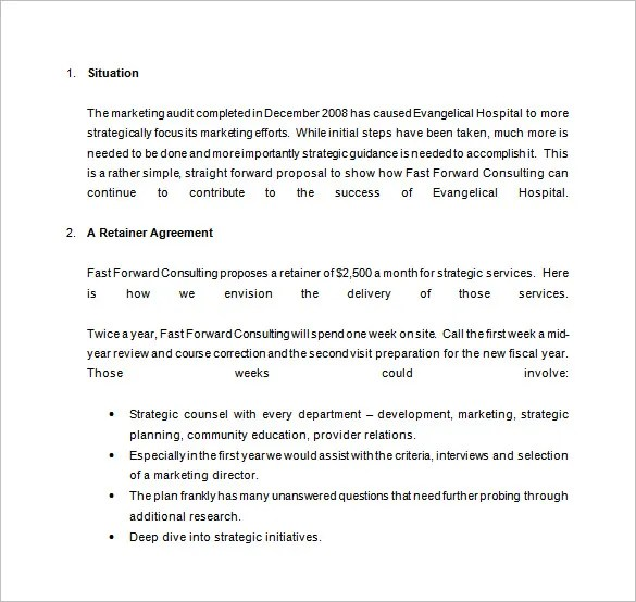 Consulting Proposal Template - 18+ Free Word, PDF Format Download