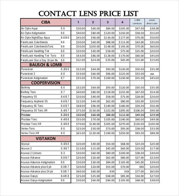 Contact List Template - 19+ Free Sample, Example, Format Free