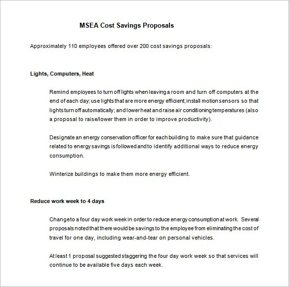 Cost Proposal Template - 14+ Free Word, Excel, PDF Format Download