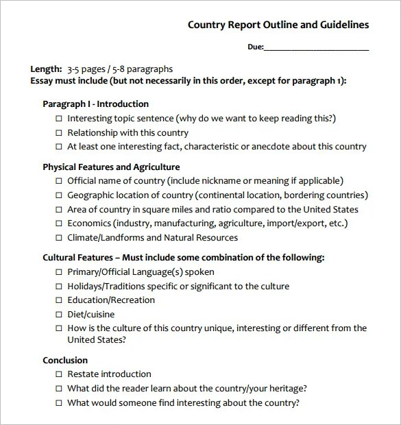 10+ Report Outline Templates - PDF, Google DOC , Apple Pages, Word