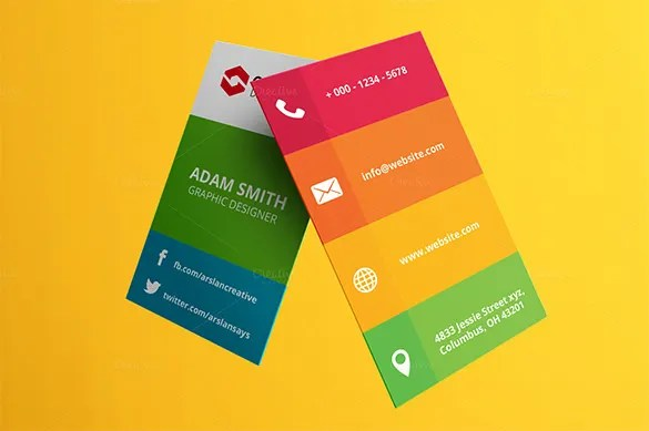 Visiting Card Template u2013 21+ Free Sample, Example Format Download - business card sample