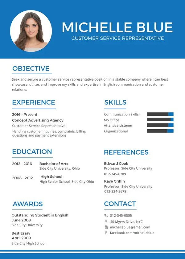 Customer Service Resume Template \u2013 11+ Free Word, Excel, PDF Format - Best Chosen Resume Format